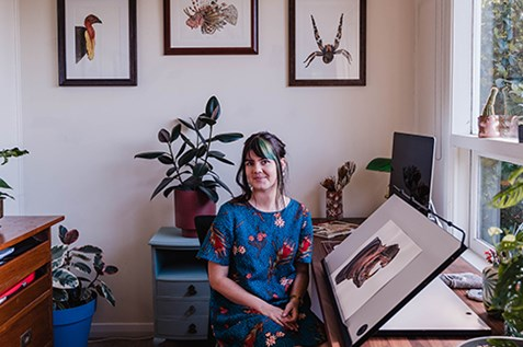 artist sami bayly natural history illustrator painter drawer newcastle