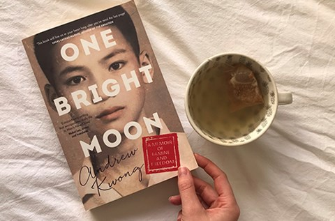 one bright moon book review harper collins andrew kwong hunterhunter