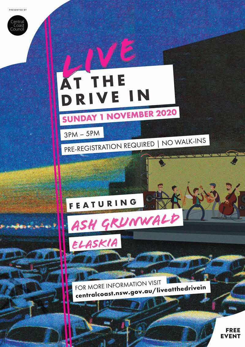 live at the drive in central coast